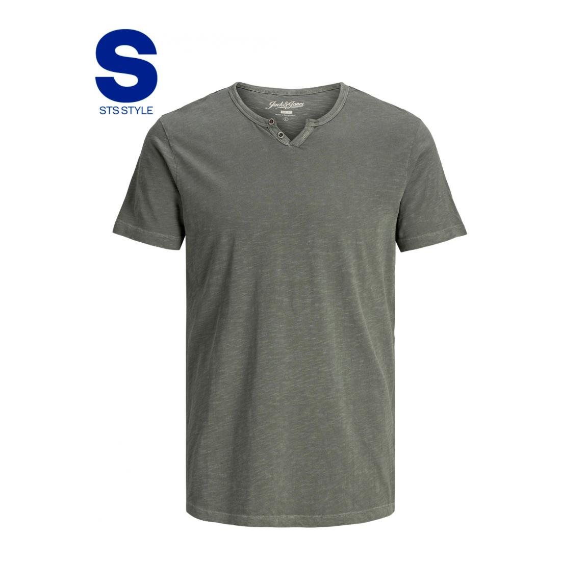 Jack & Jones T-Shirt Herren JJESPLIT NECK TEE SS NOOS