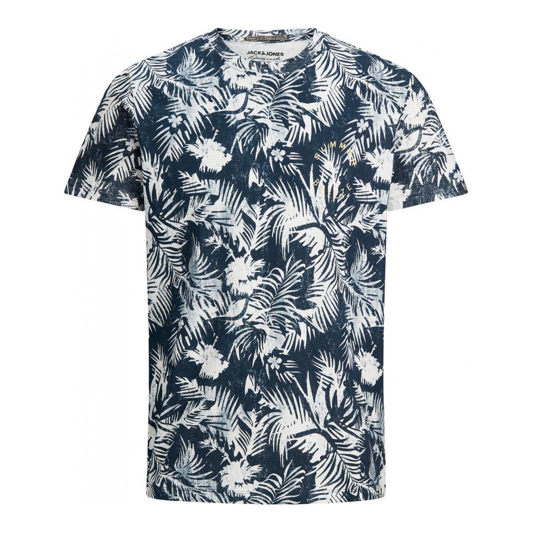 Jack & Jones T-Shirt Herren JORSUNNY AOP TEE SS CREW