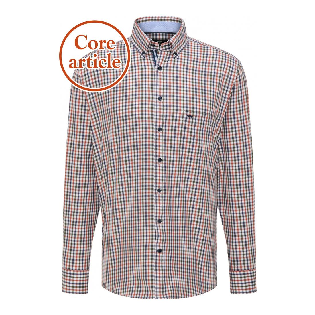 Fynch-Hatton Casual Hemden Herren Twill Combi Check, 1/1, B
