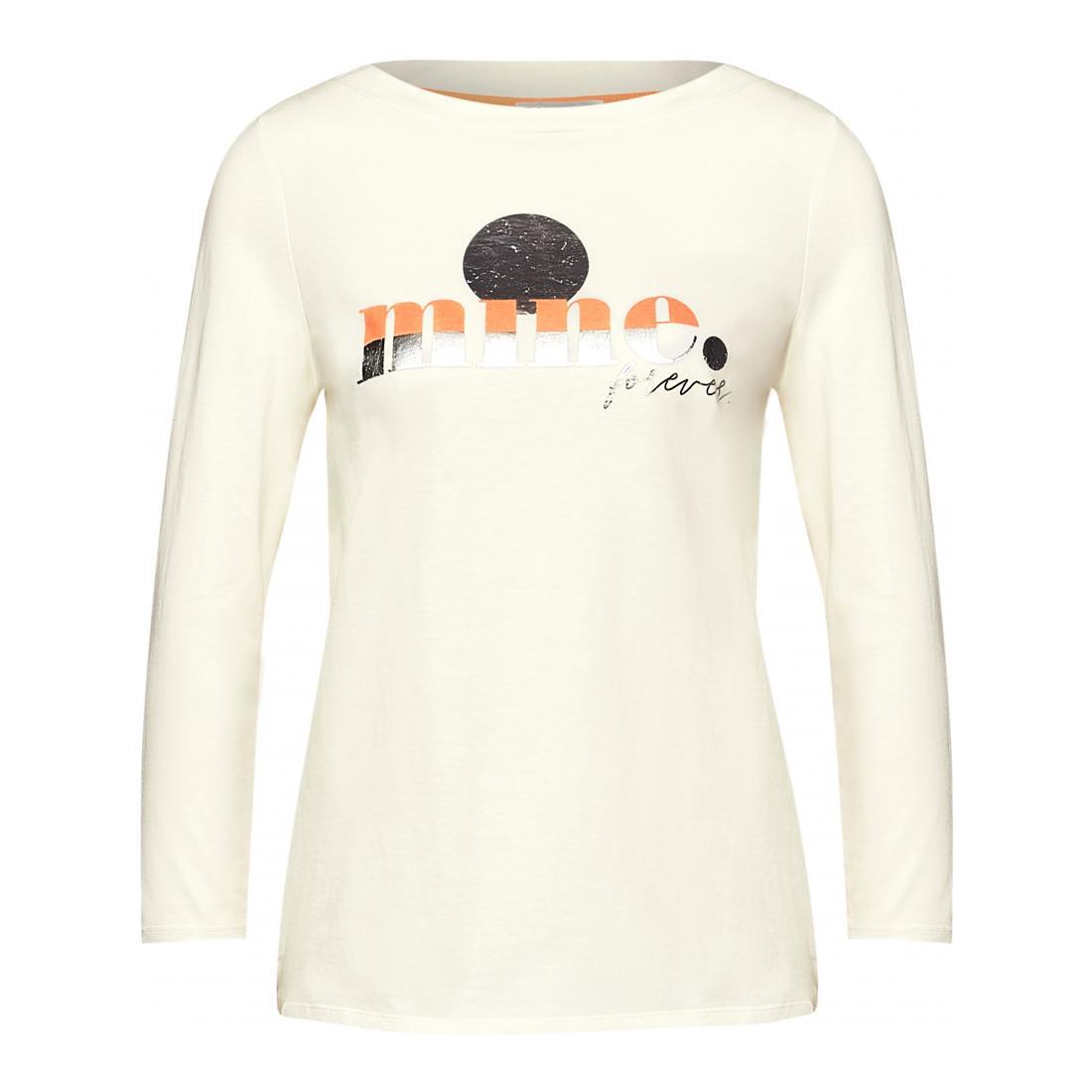 Street One Longsleeves Damen LTD QR mine wording shirt