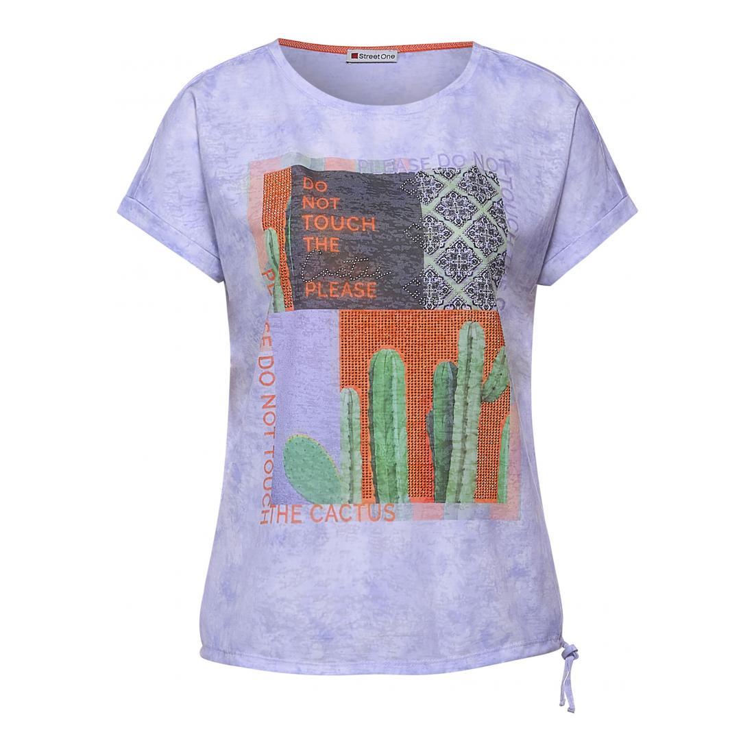 Street One T-Shirt Damen drawcord photoprint shirt
