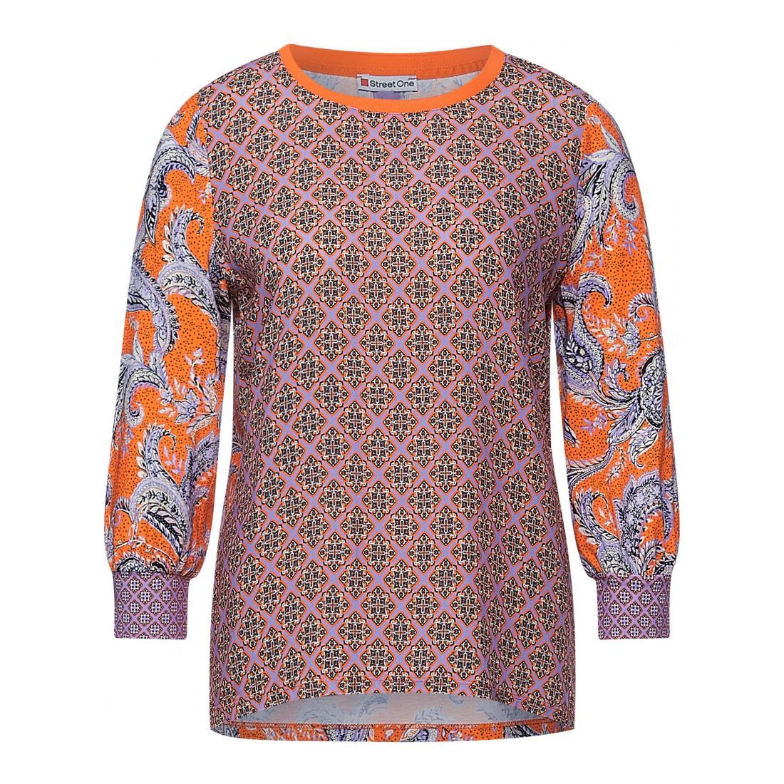 Street One Longsleeves Damen print mix shirt