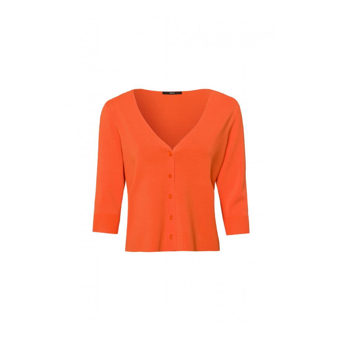 Zero Pullover Damen Cardigan short boxy style