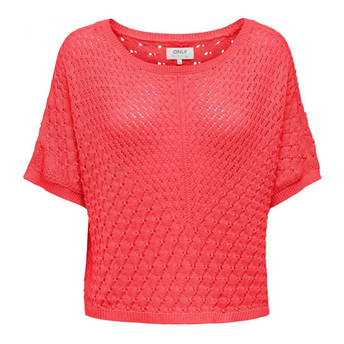 Only T-Shirt Damen ONLSTELLA S/S PULLOVER KN