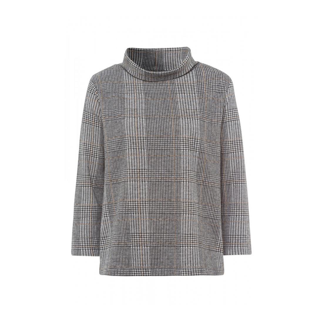 More & More Pullover Damen Glencheck Sweatshirt Acti