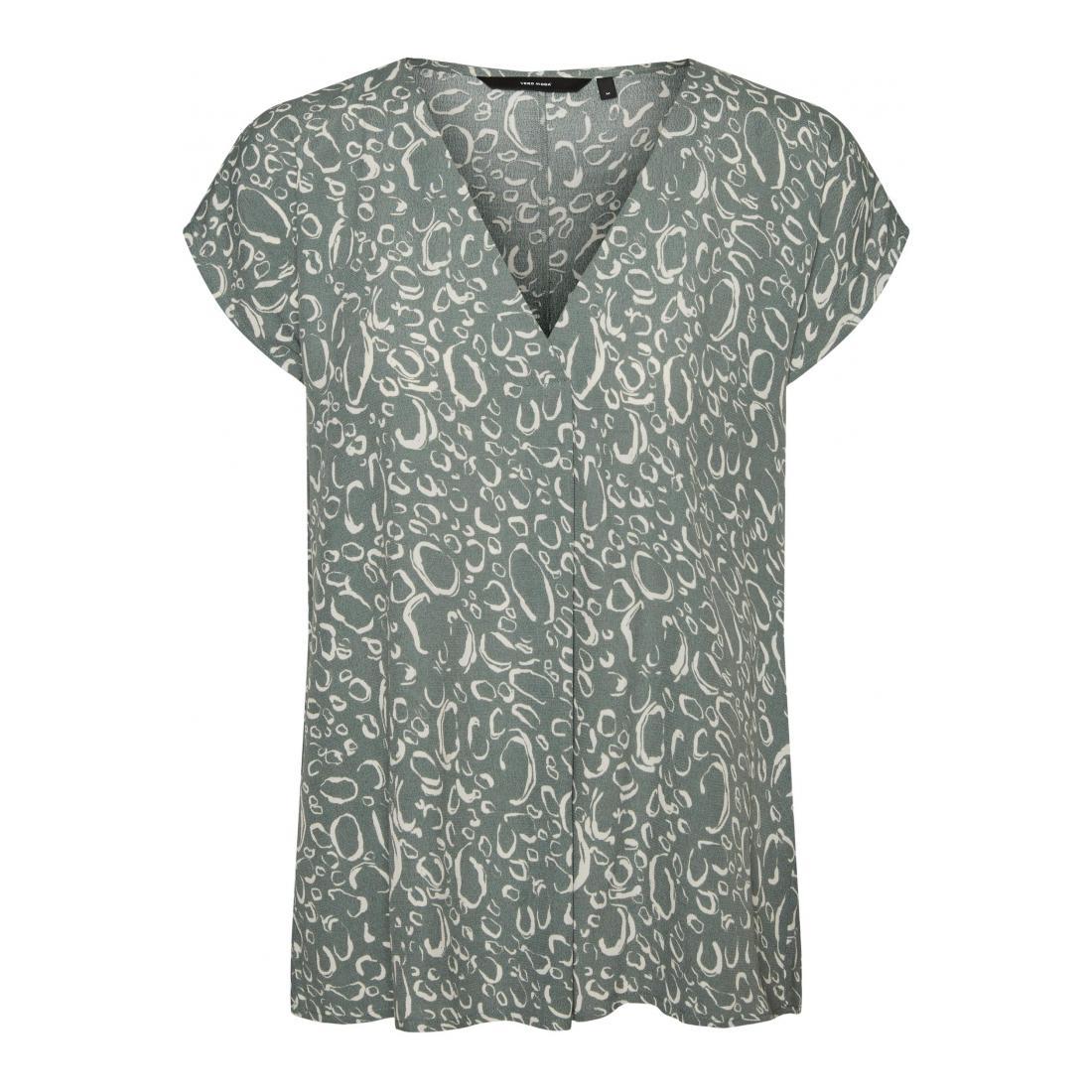 Vero Moda T-Shirt Damen VMLIVA SS WIDE TOP WVN GA