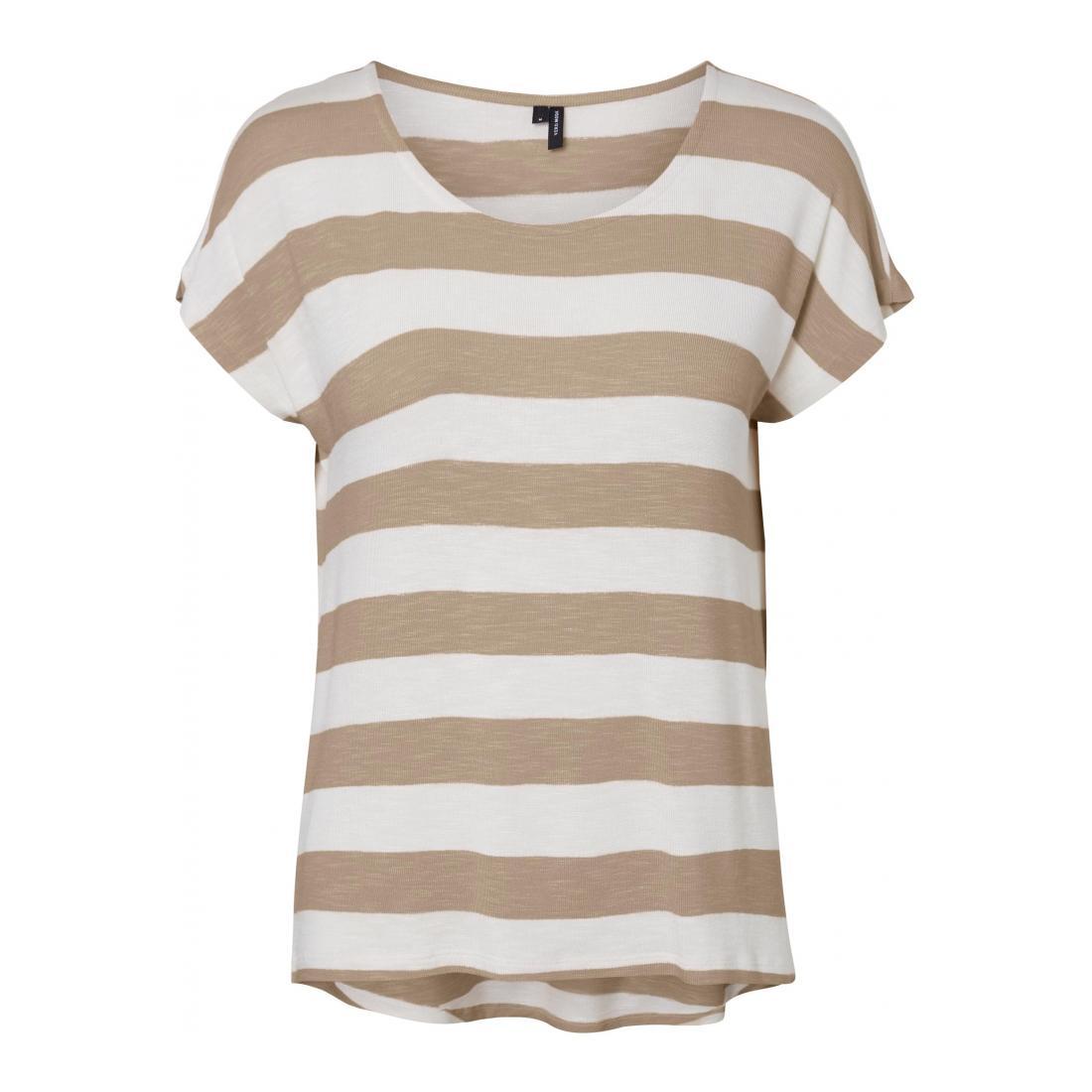 Vero Moda T-Shirt Damen VMWIDE STRIPE S/L TOP GA
