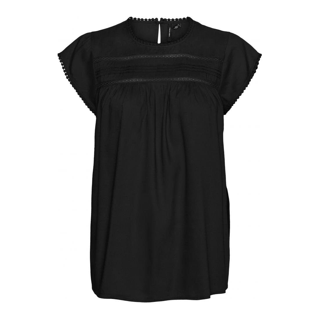 Vero Moda T-Shirt Damen VMDEBBIE PLEAT S/L TOP GA