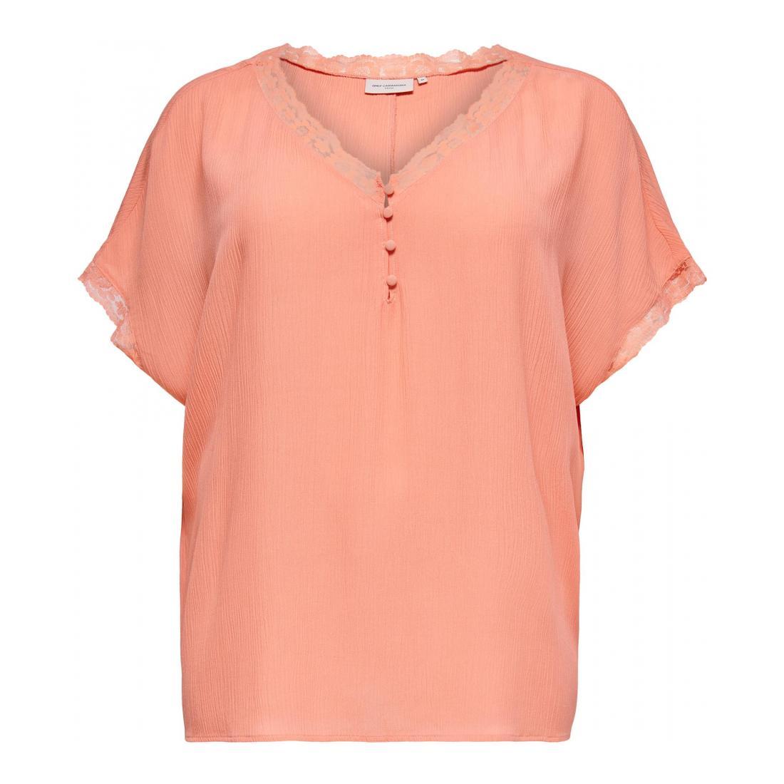 Only Carmakoma T-Shirt Damen CARMIO SS TOP ESS