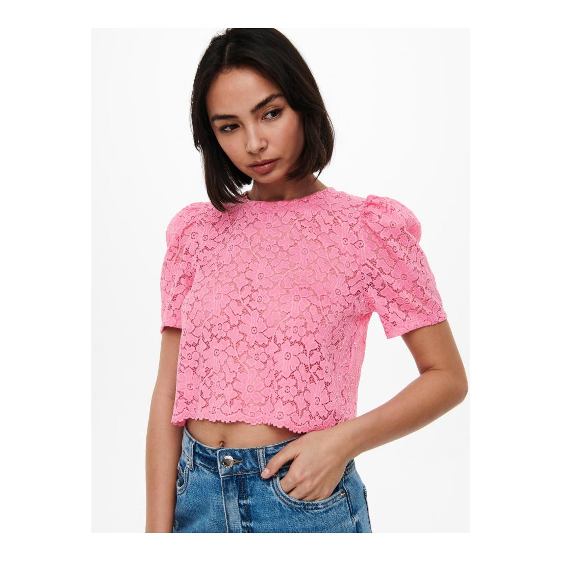 Only T-Shirt Damen ONLNEW ALBA S/S CROPPED P