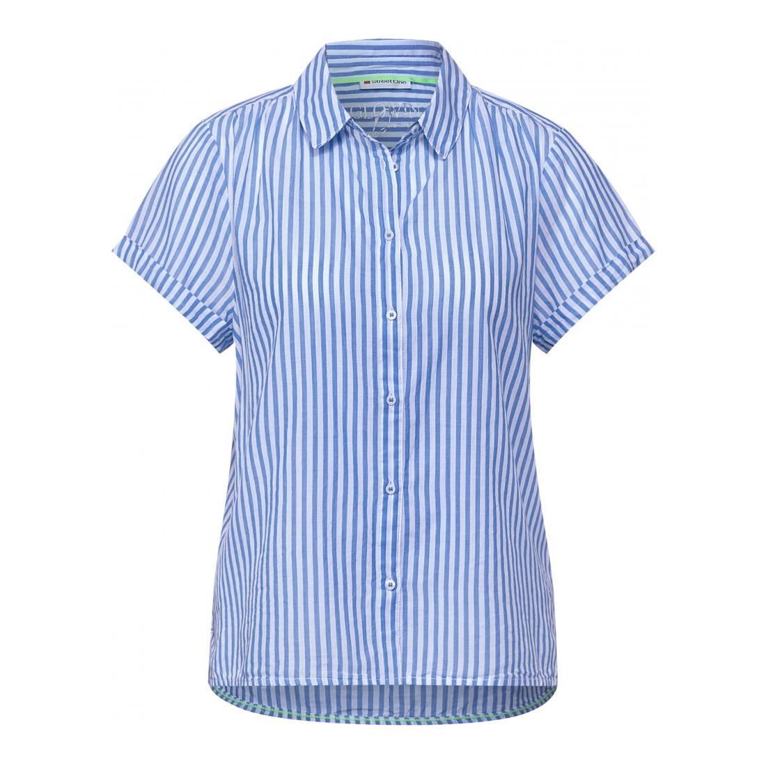 Street One Casual Blusen Da LTD QR striped shirtcolla
