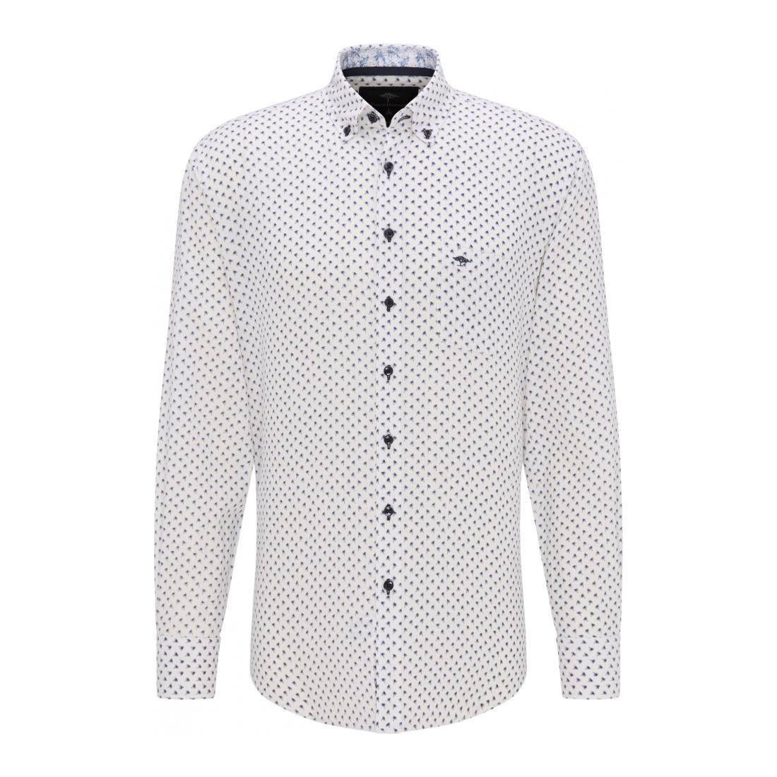 Fynch-Hatton Casual Hemden Herren Linen Blend Print Story,