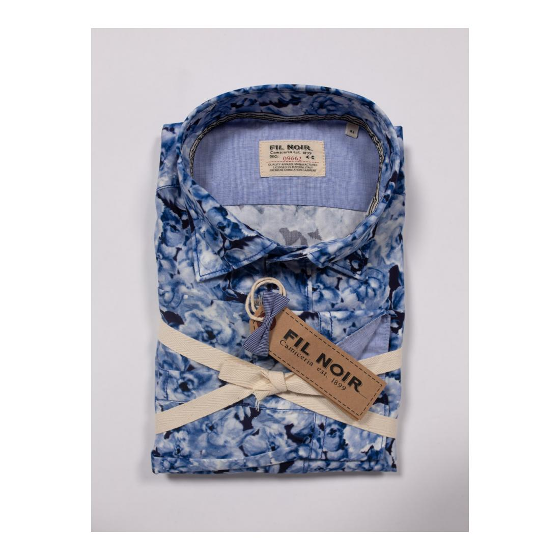 Fil Noir Casual Hemden Herren 1/1 Langarm Herrenhemd St