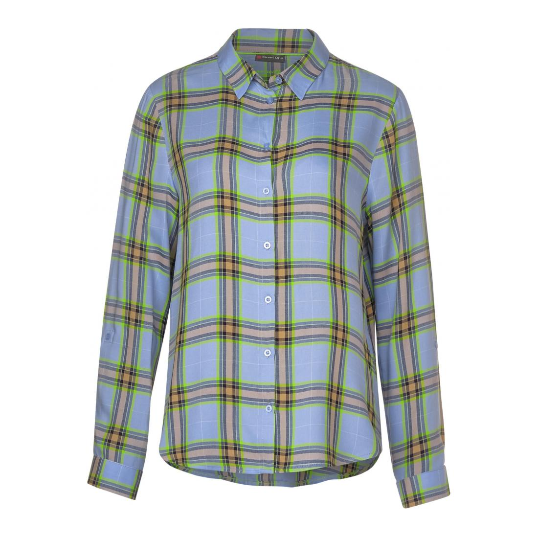 Street One  Checked shirtcollar blous