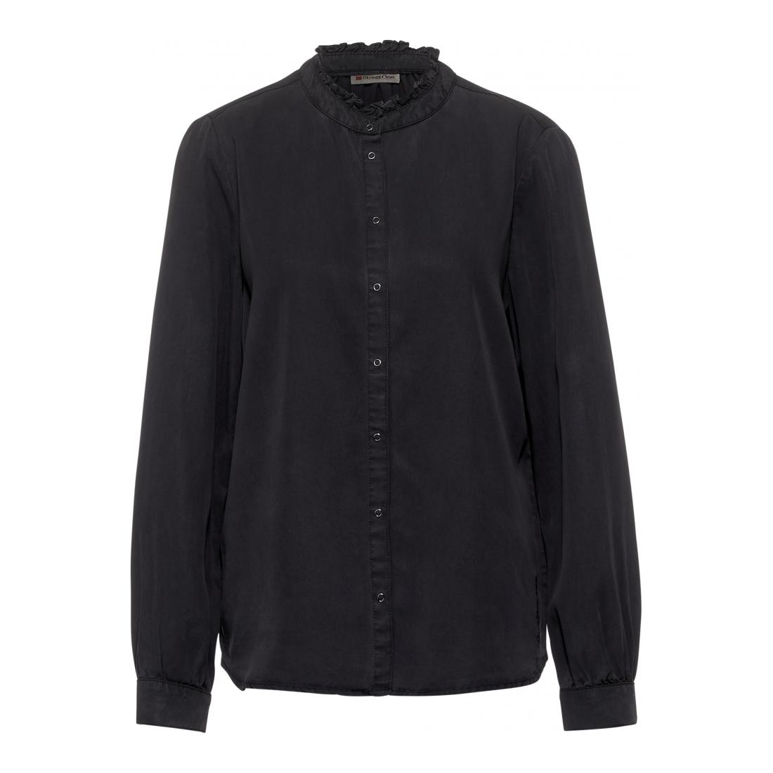 Street One Casual Blusen Da Washed blouse w frilled c