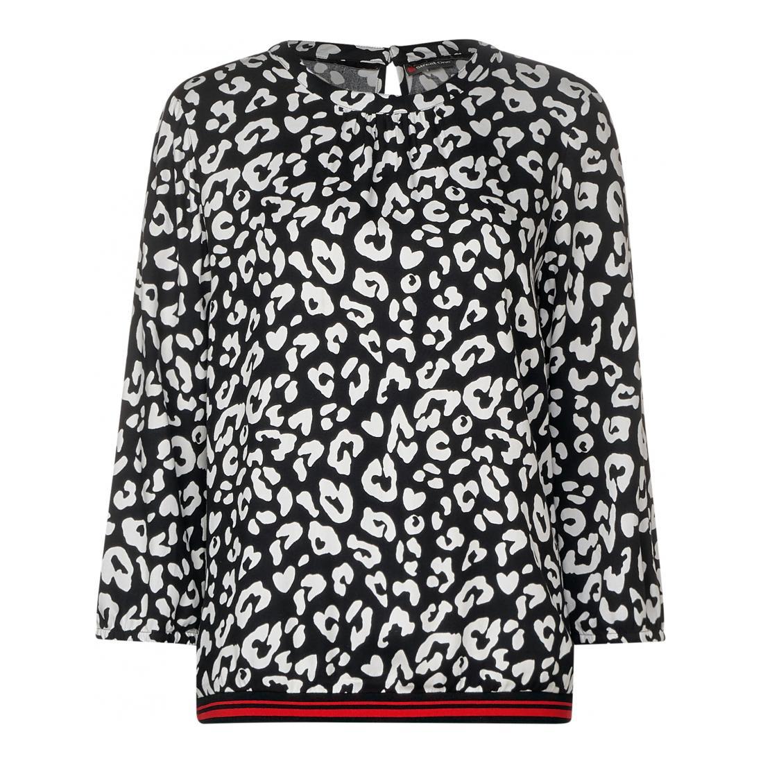 Street One  Printed turtleneck blouse