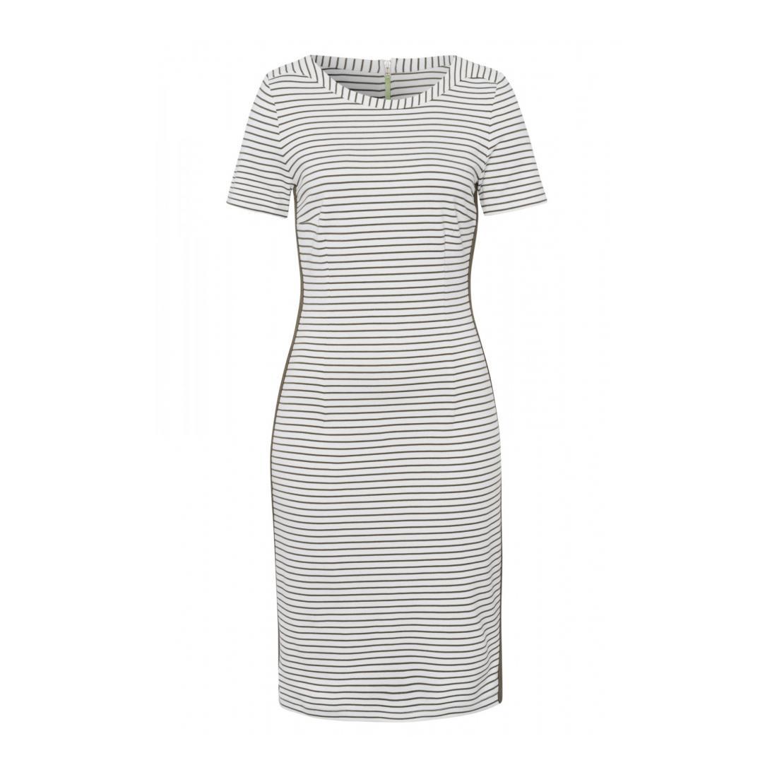 More & More Kleider kurz Damen Striped Jerseydress Activ