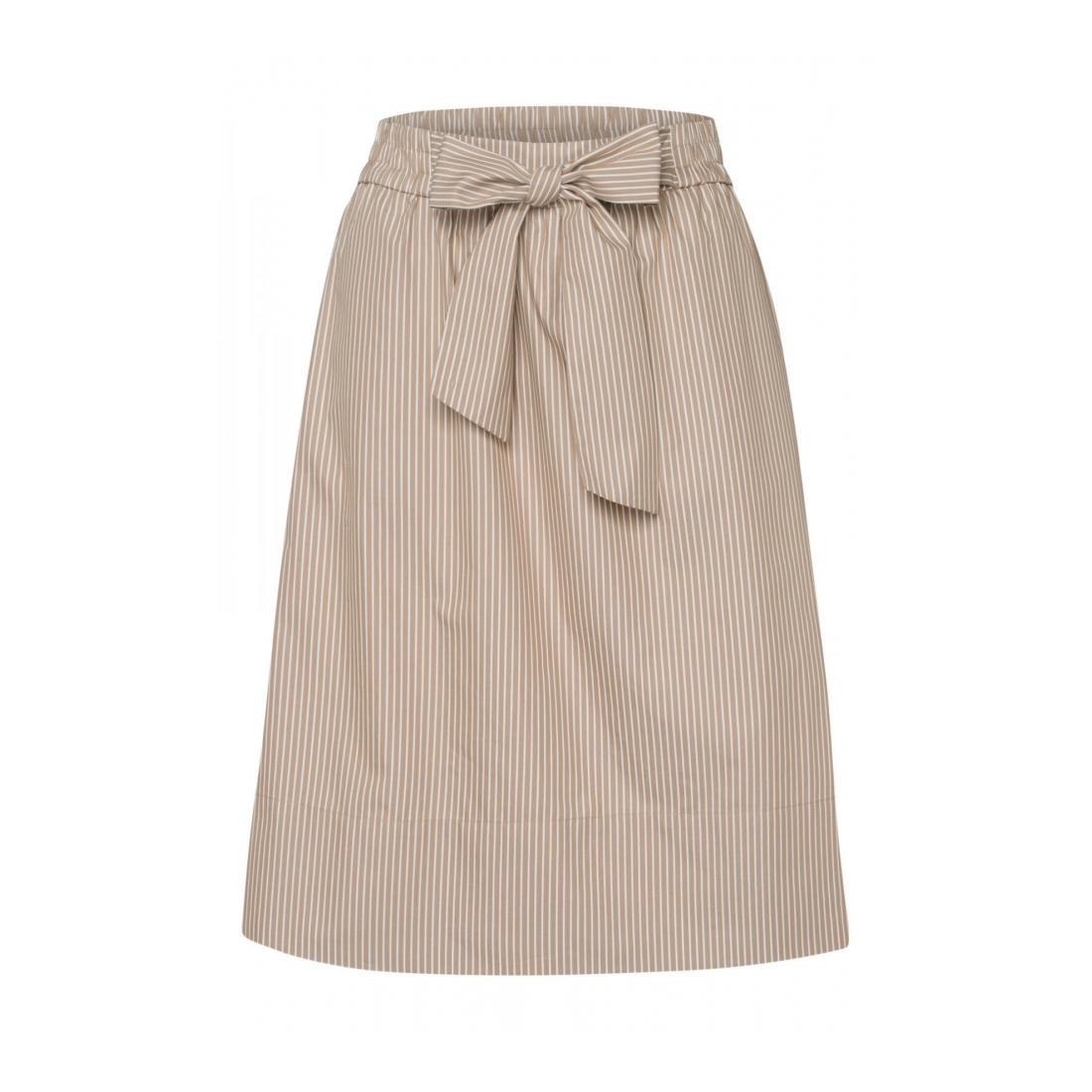 More & More  Fine Striped Poplin Skirt