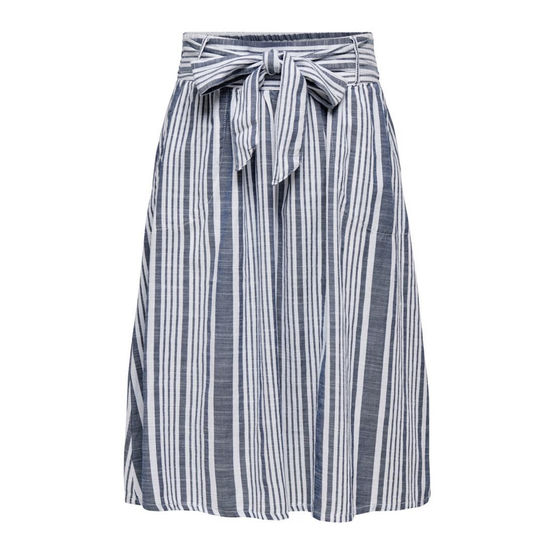Only andere Kleider/Röcke Damen ONLLAVANA STRIPE DNM SKIR