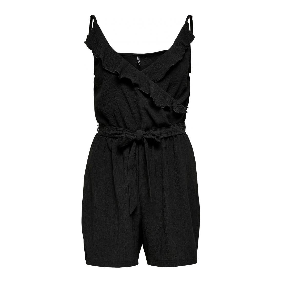 Only Jumpsuits Damen ONLSAGA S/L WRAP PLAYSUIT