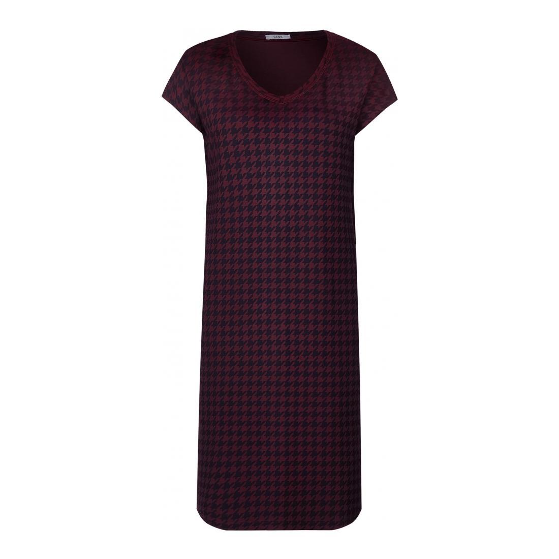 Cecil Kleider lang Damen Jersey Print Mix Dress