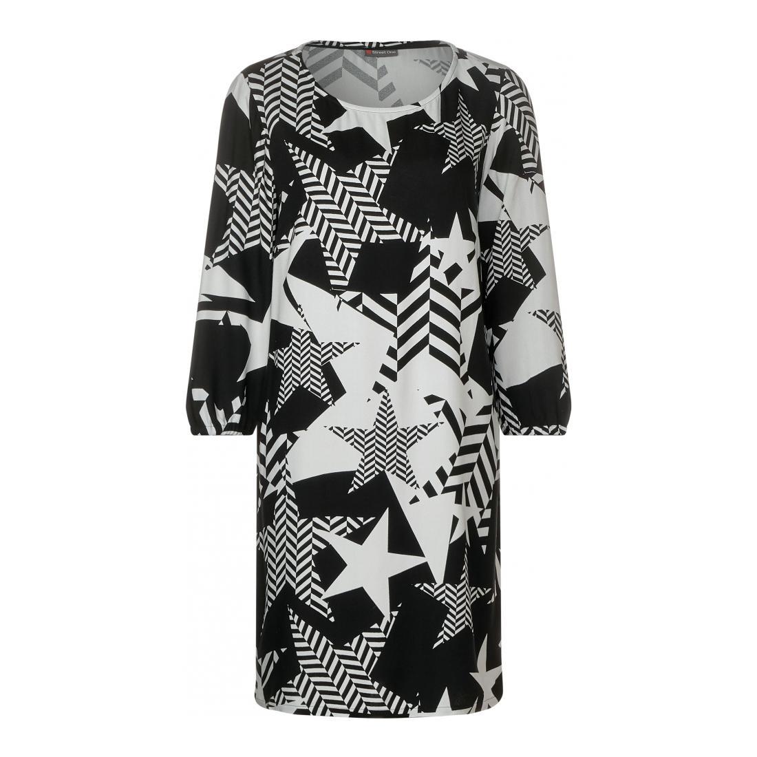 Street One Kleider lang Damen Star Print Dress _L94