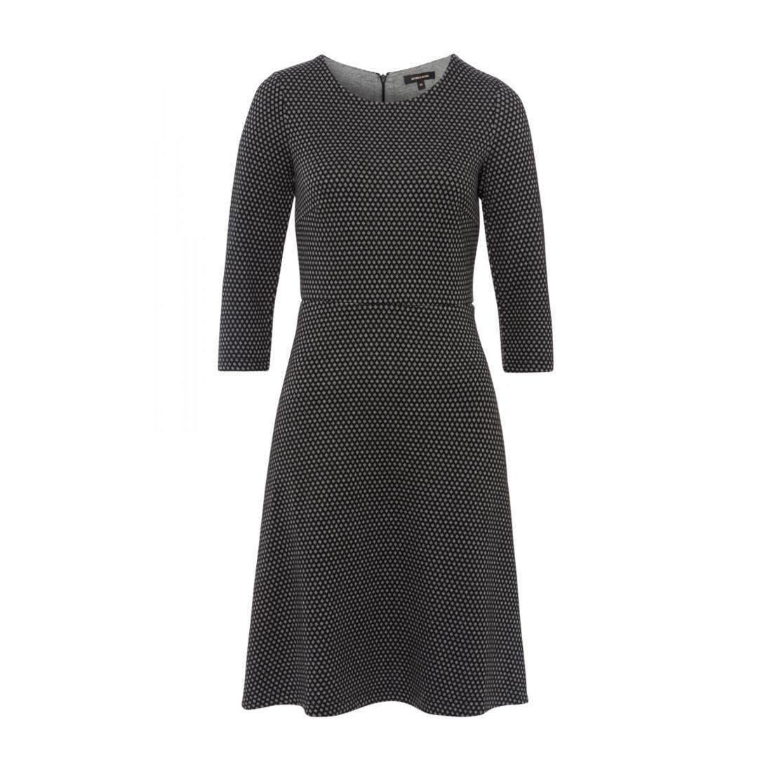More & More Kleider lang Damen Jersey Jacquard Dress Act