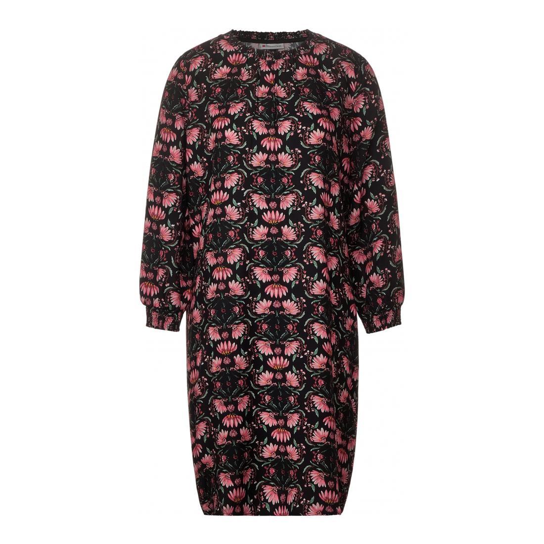Street One Kleider lang Damen Smok Detail Dress_Moderat