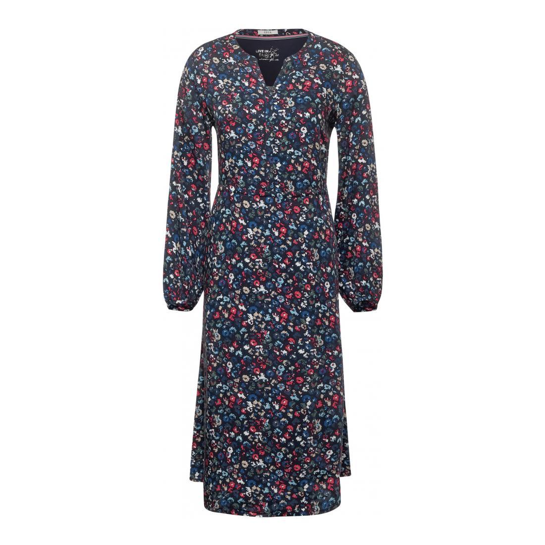 Cecil Kleider lang Damen AOP flower long Dress