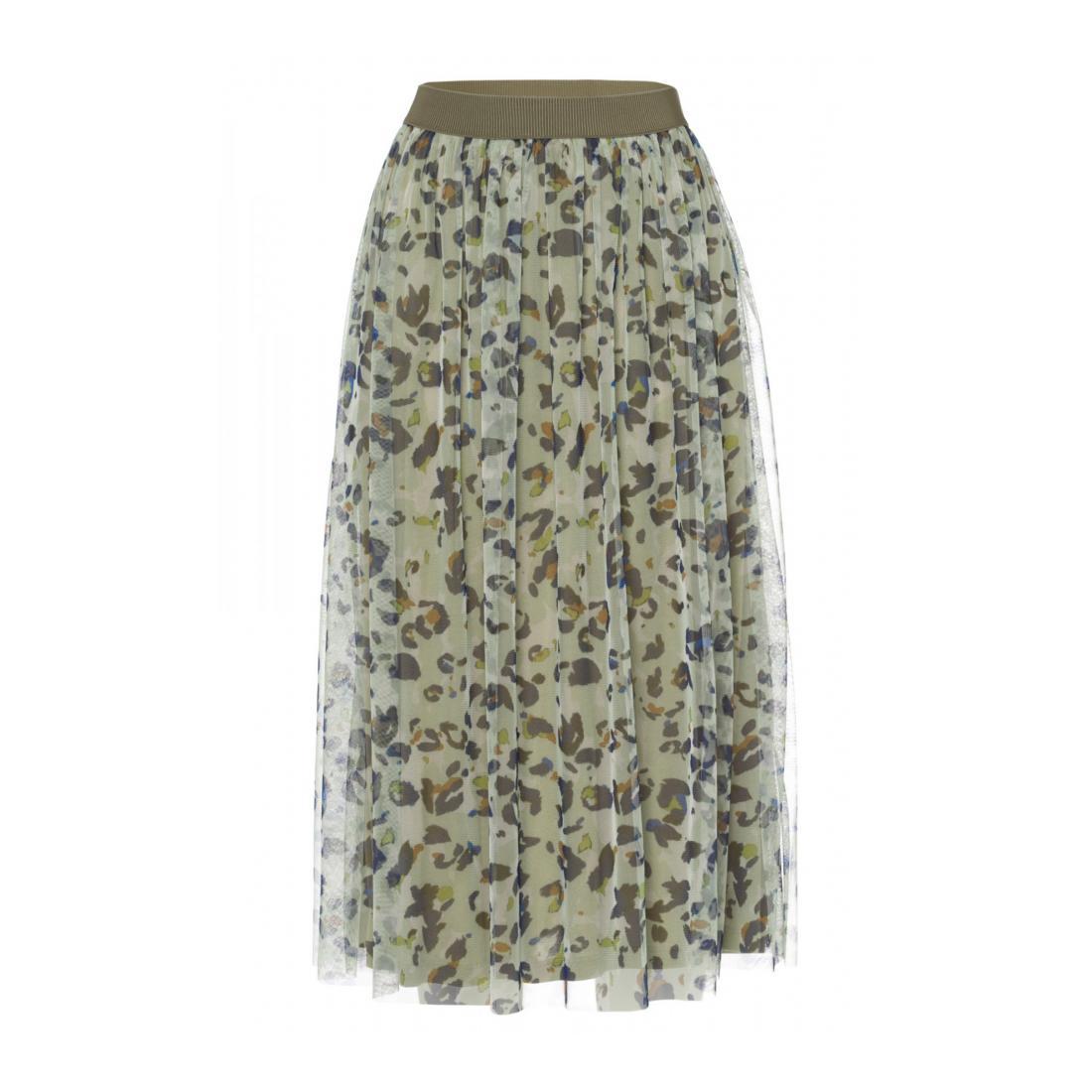 More & More Röcke lang Damen Printed Mesh Skirt Active