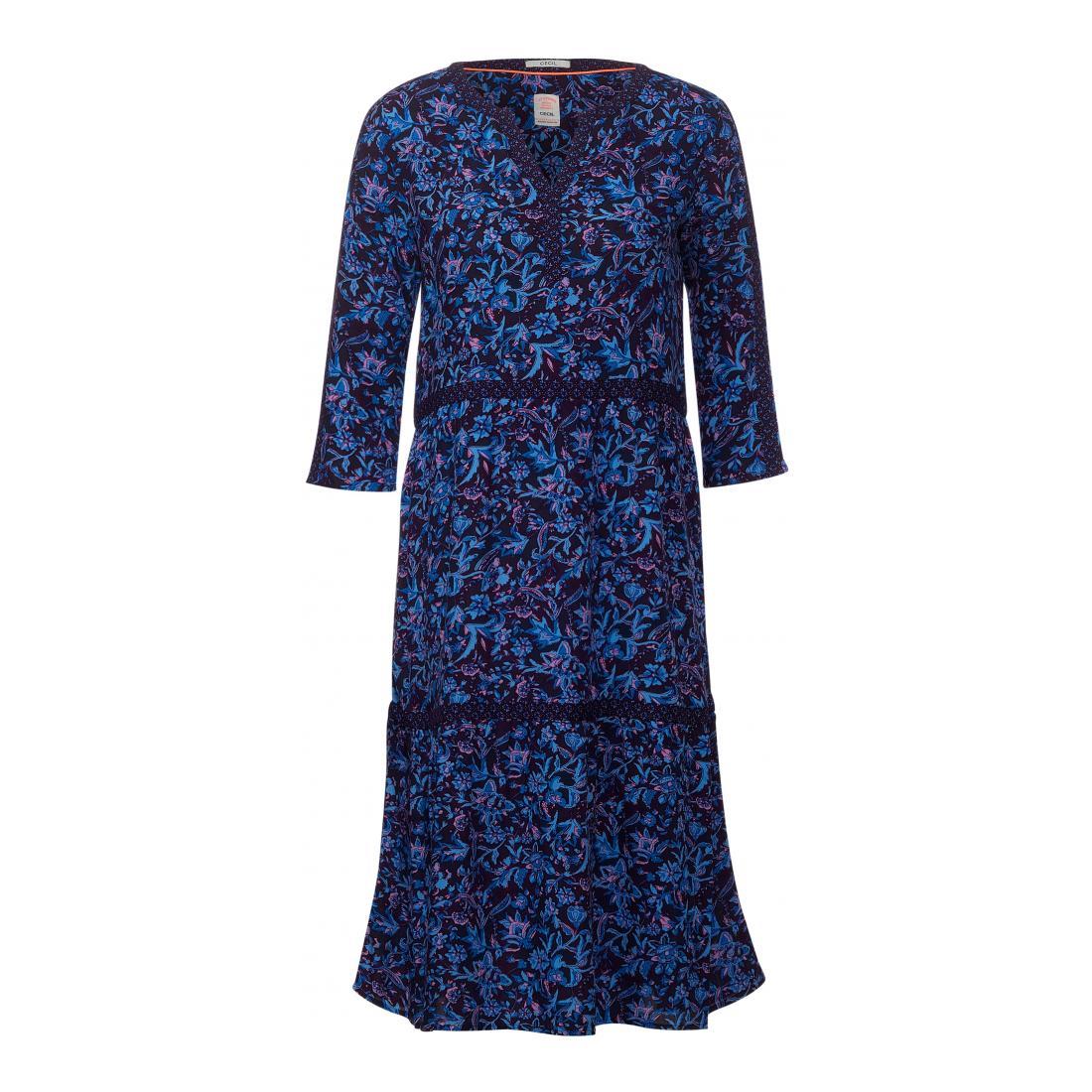 Cecil Kleider lang Damen Print Mix Dress