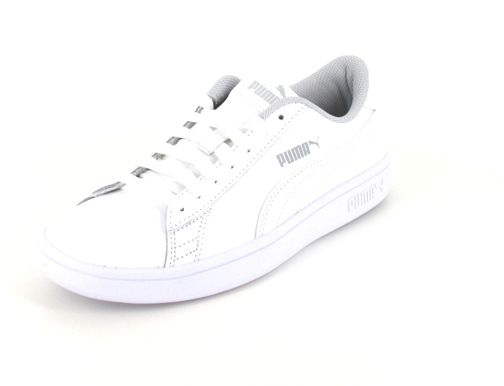 Puma Damen Smash v2 L Jr White-Black