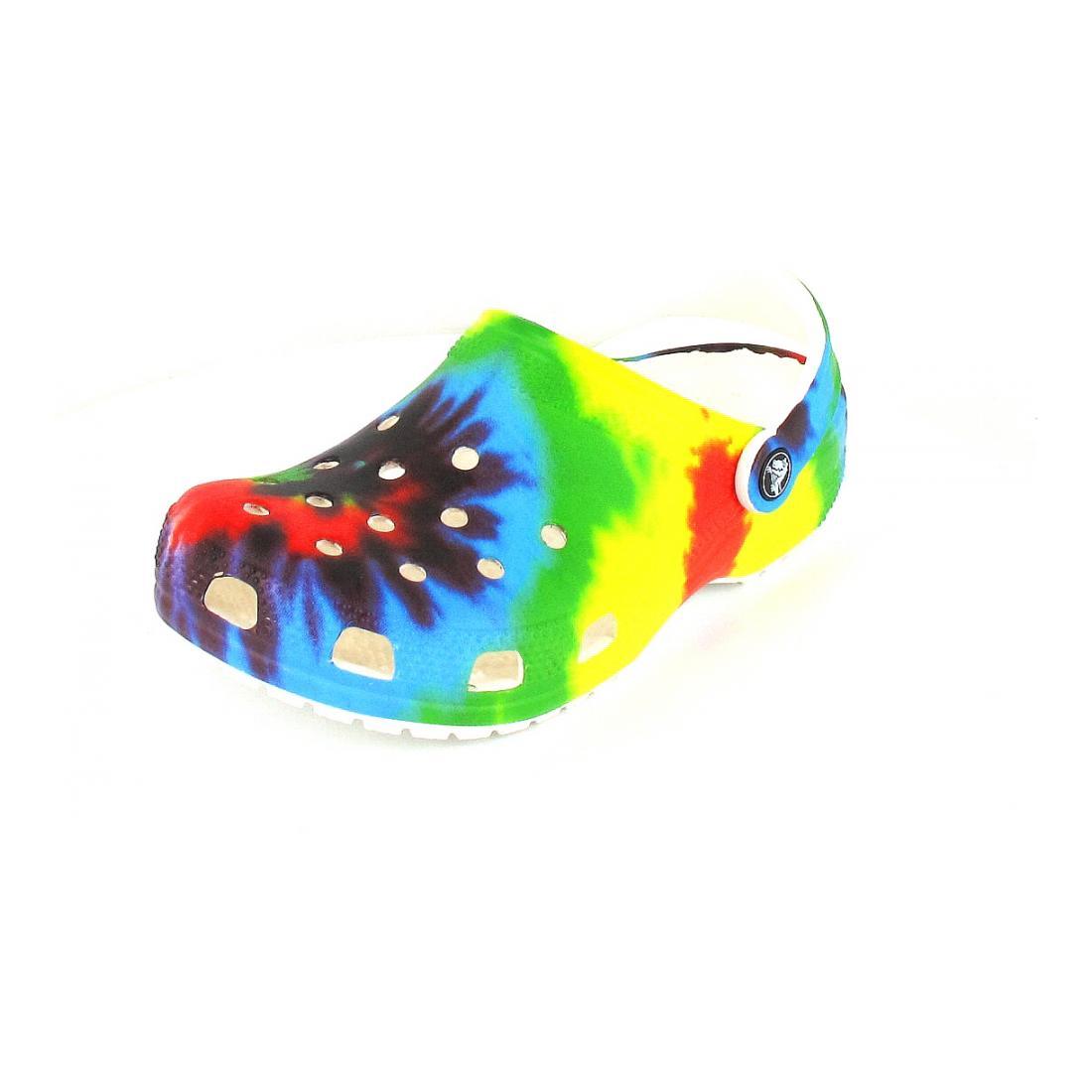 Crocs Pantolette Classic Tie Dye Graphic